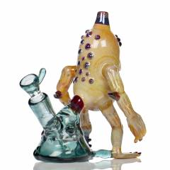 Ozbongs Silicone Hex Puck Green White