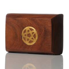 Wooden Storage Box Pentagram