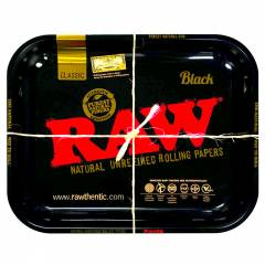 Large RAW Rolling Tray BLACK