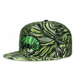 Grassroots Snapback Removable Bear Green Chameleon Fitted