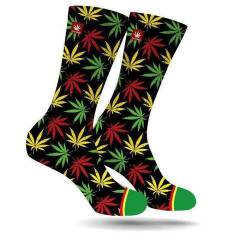 StonerDays Rasta Leaf Socks