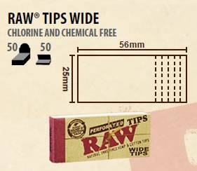 RAW Wide Extra Large Tips