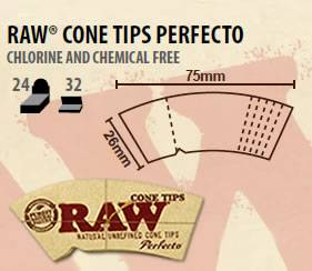RAW Cone Filter Tips 'Perfecto'