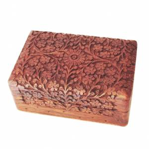 Mdm Wooden Storage Box-Flowers